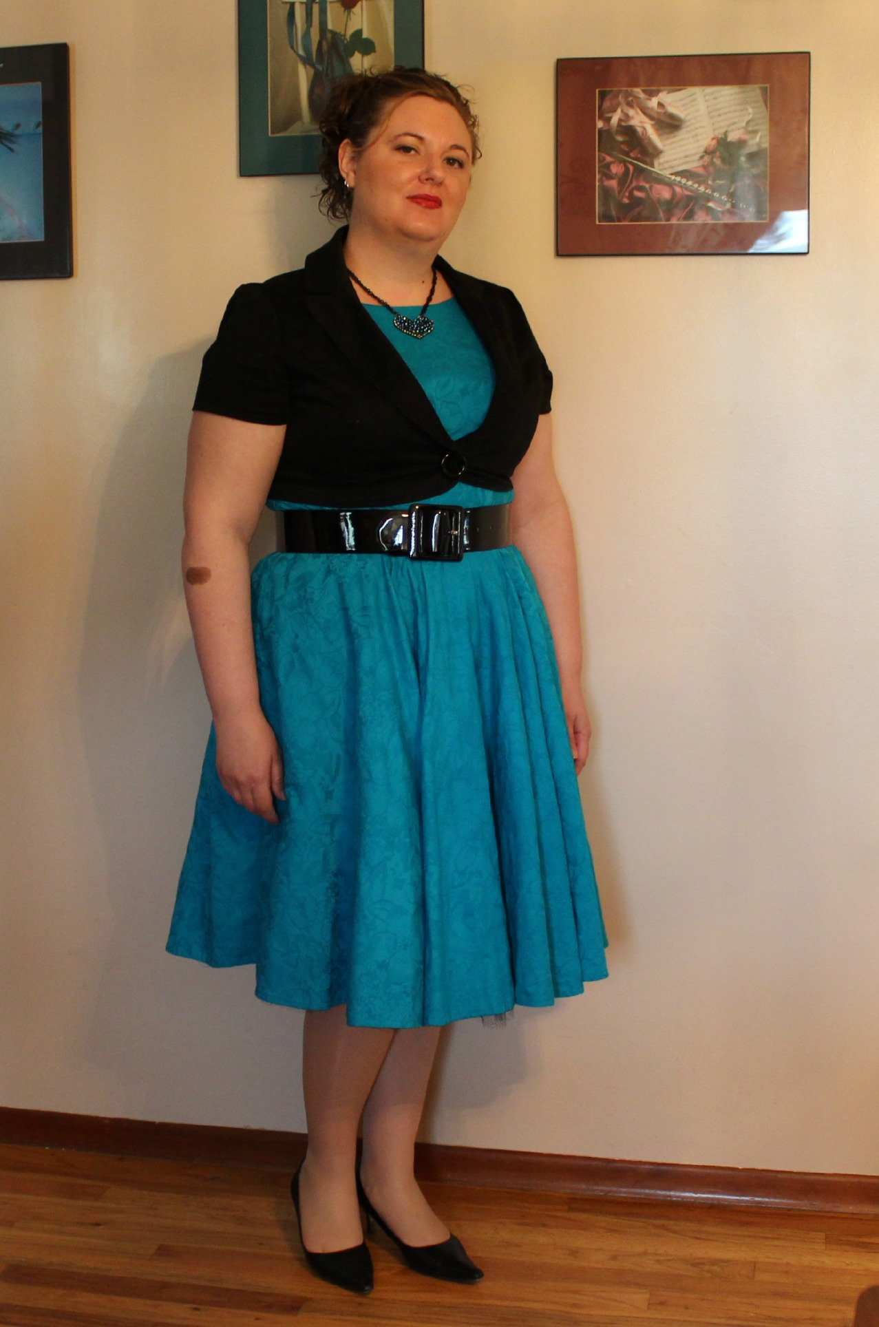 60's dress less puffy front