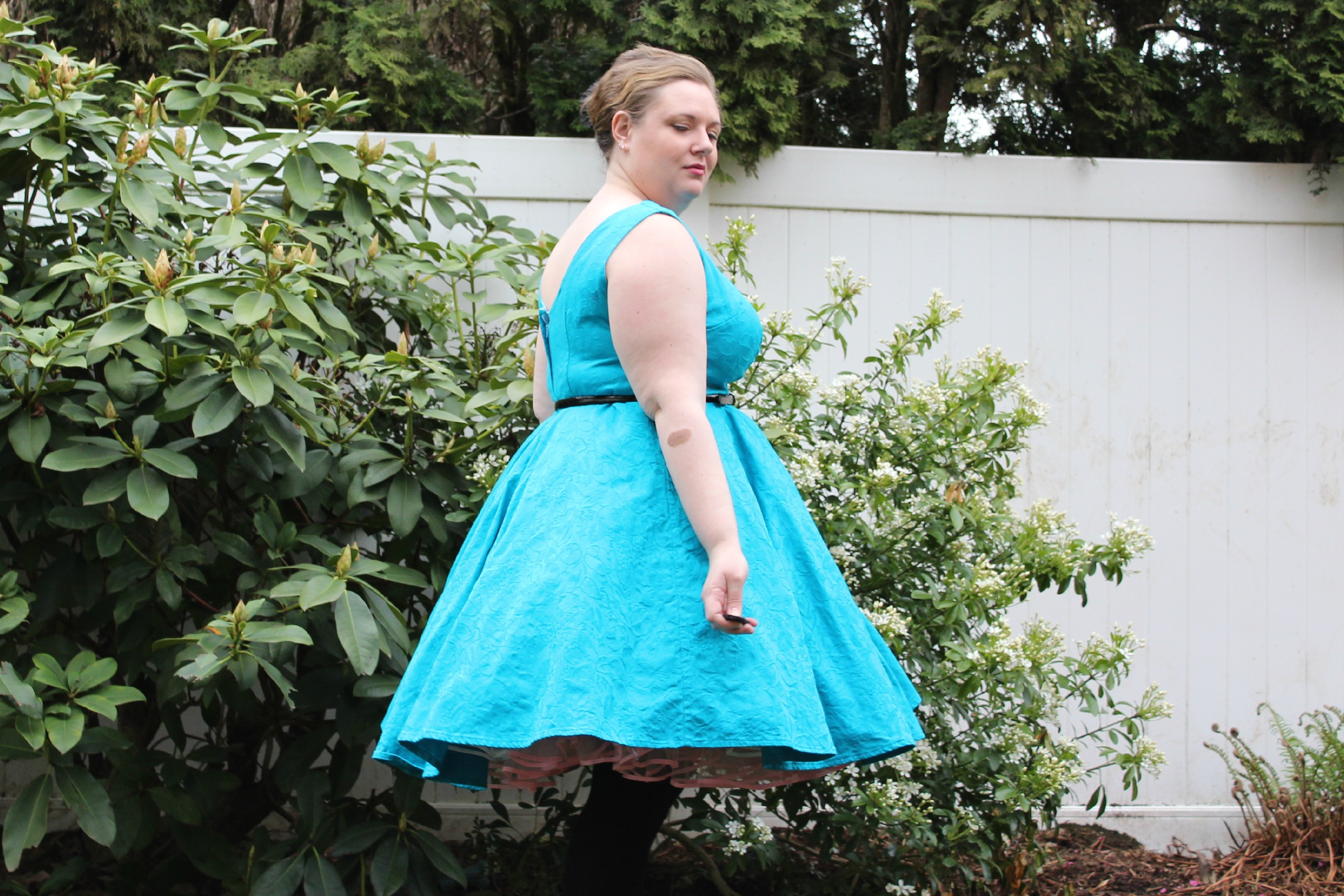60's dress puffy side