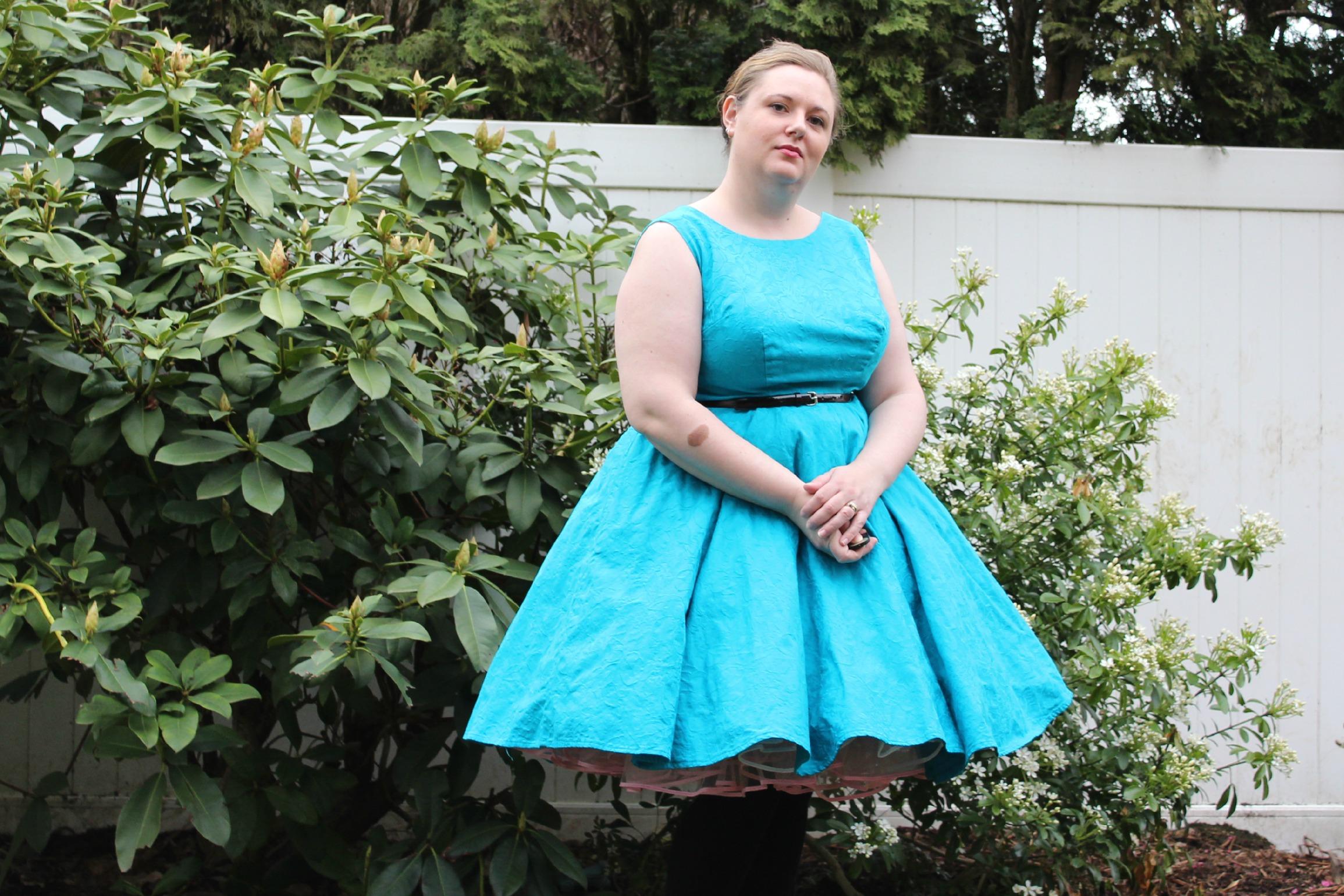 60's dress puffy
