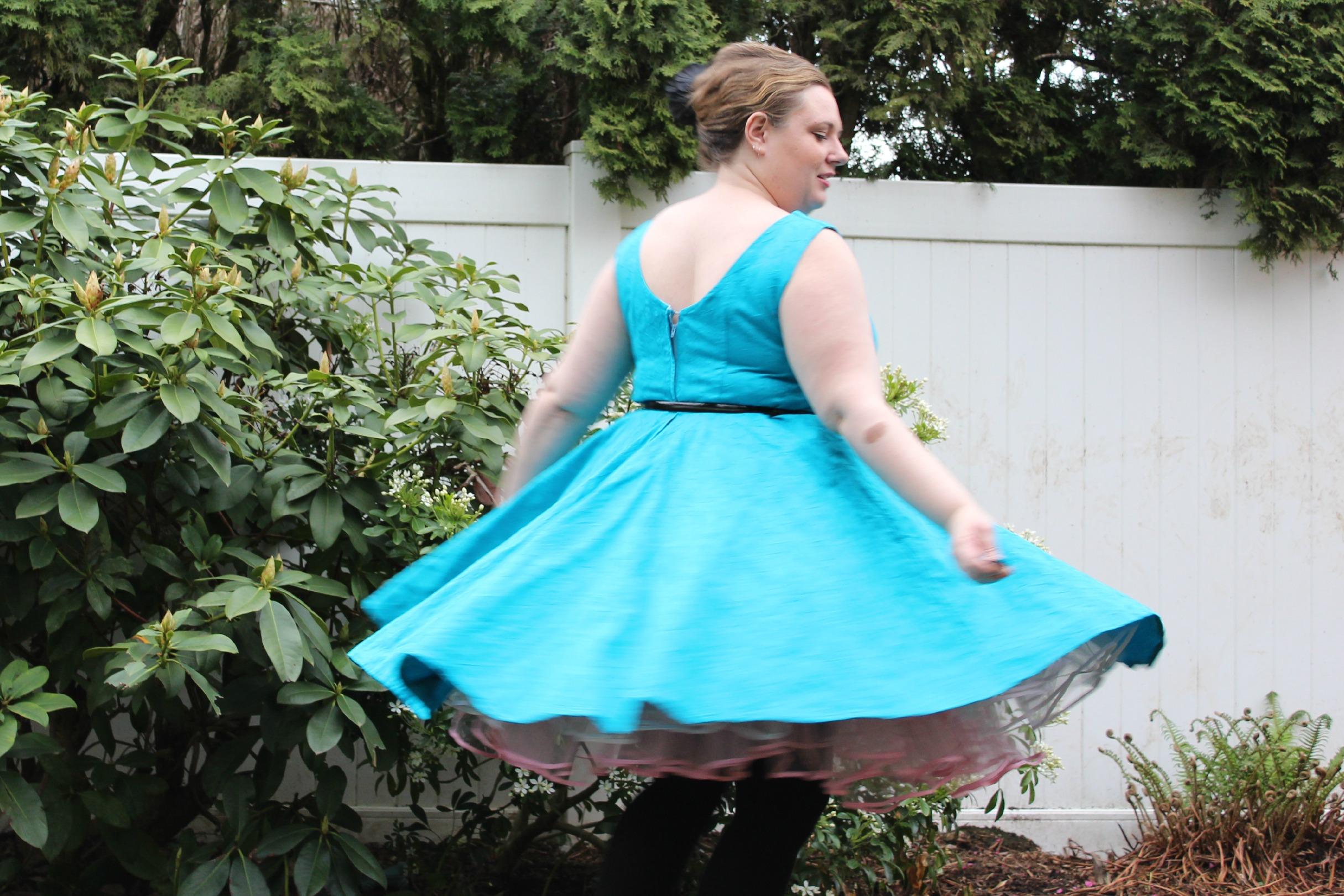 60's dress twirling