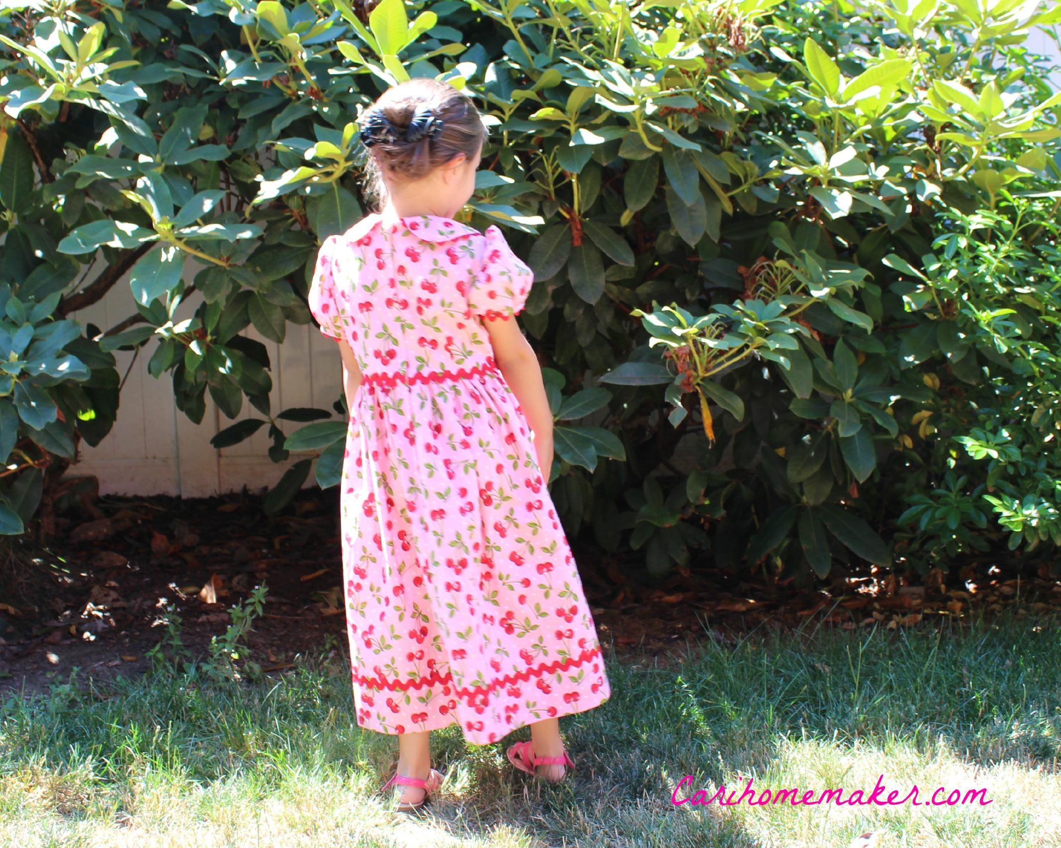 Cherry Dress Back