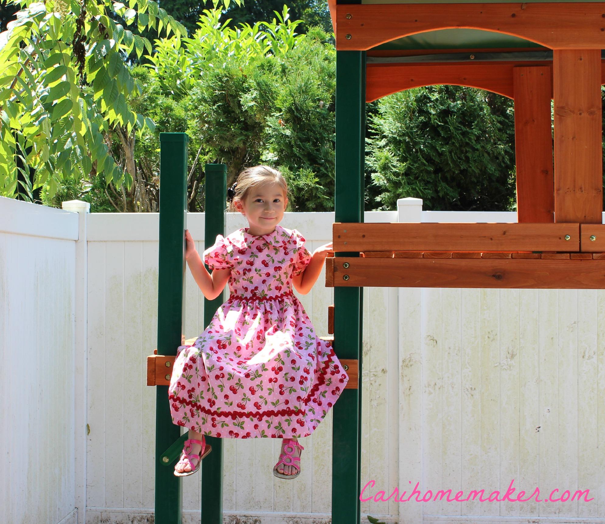Dress on swingset