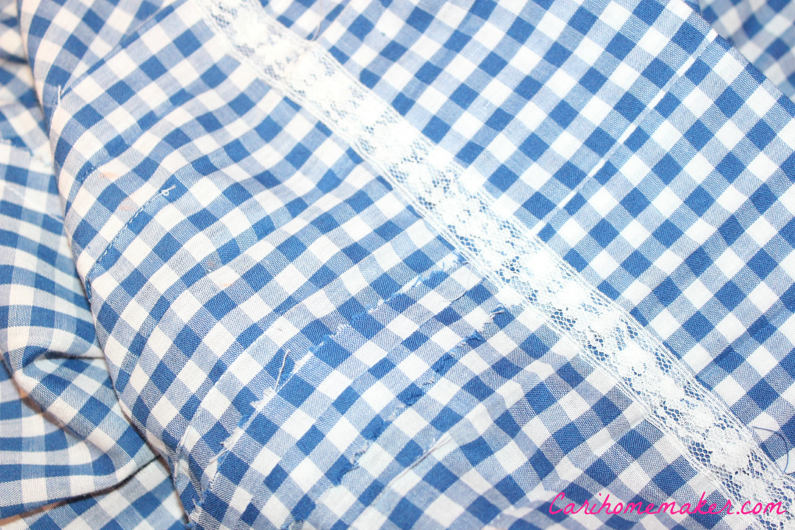 Blue Gingham inside