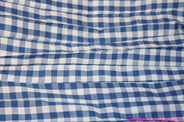 Blue Gingham insides pleats