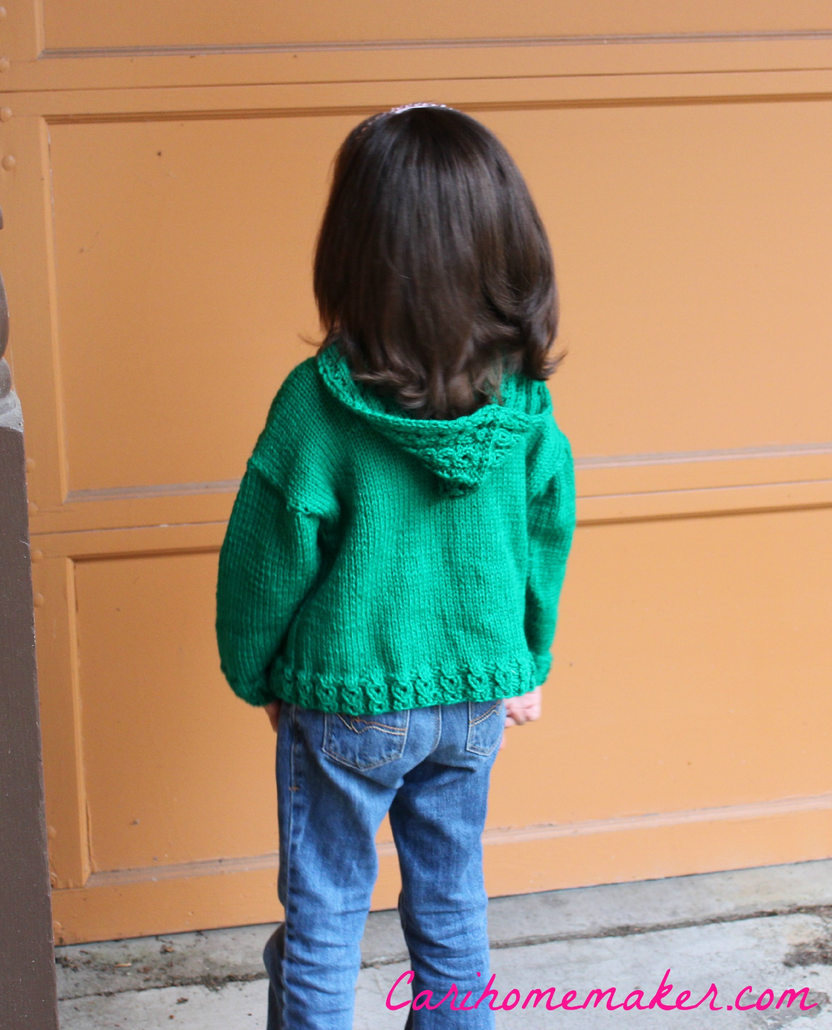 Green Sweater Back