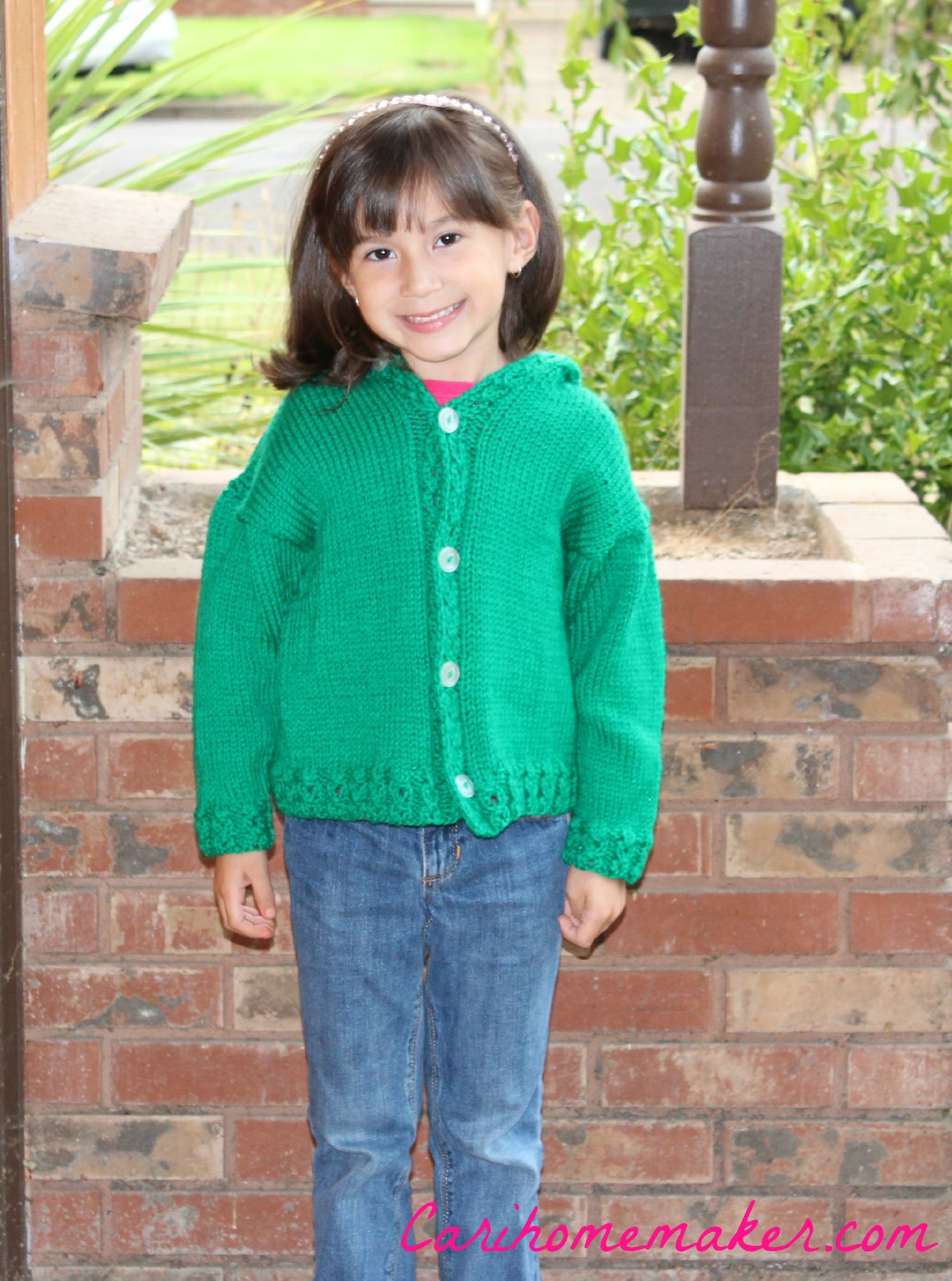 Green Sweater Front