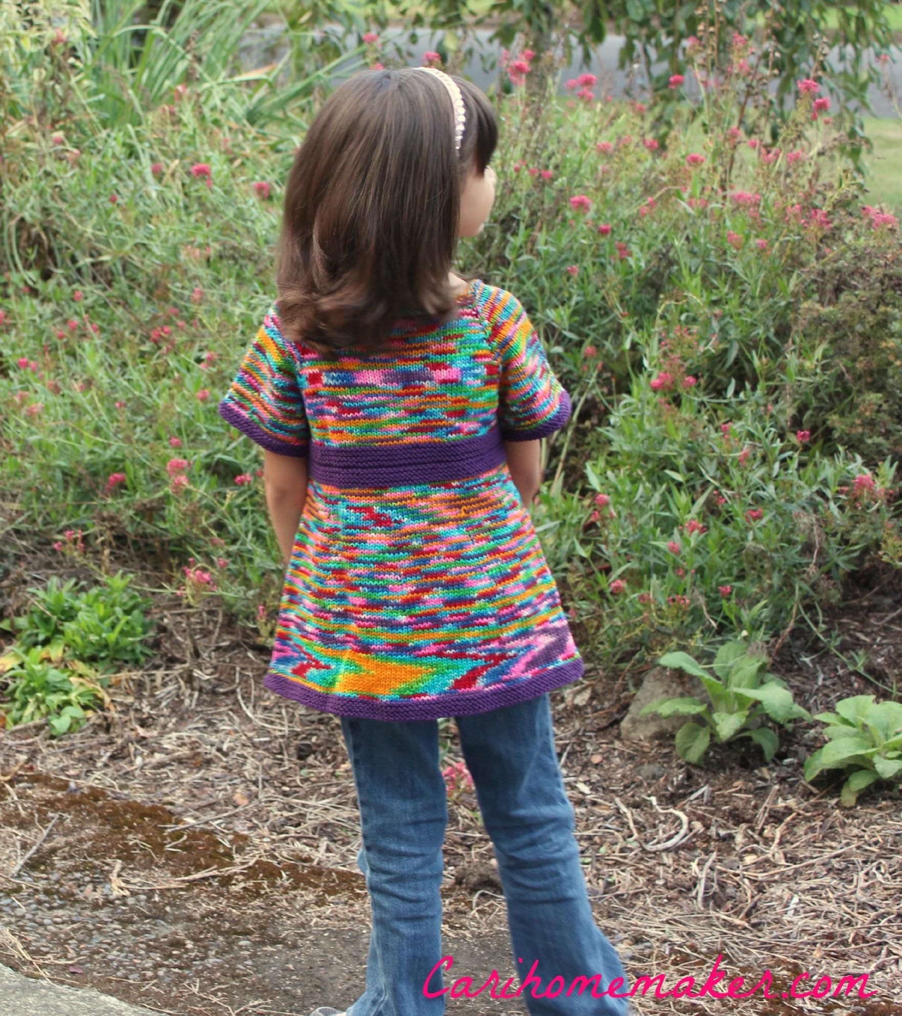 Rainbow Sweater Back