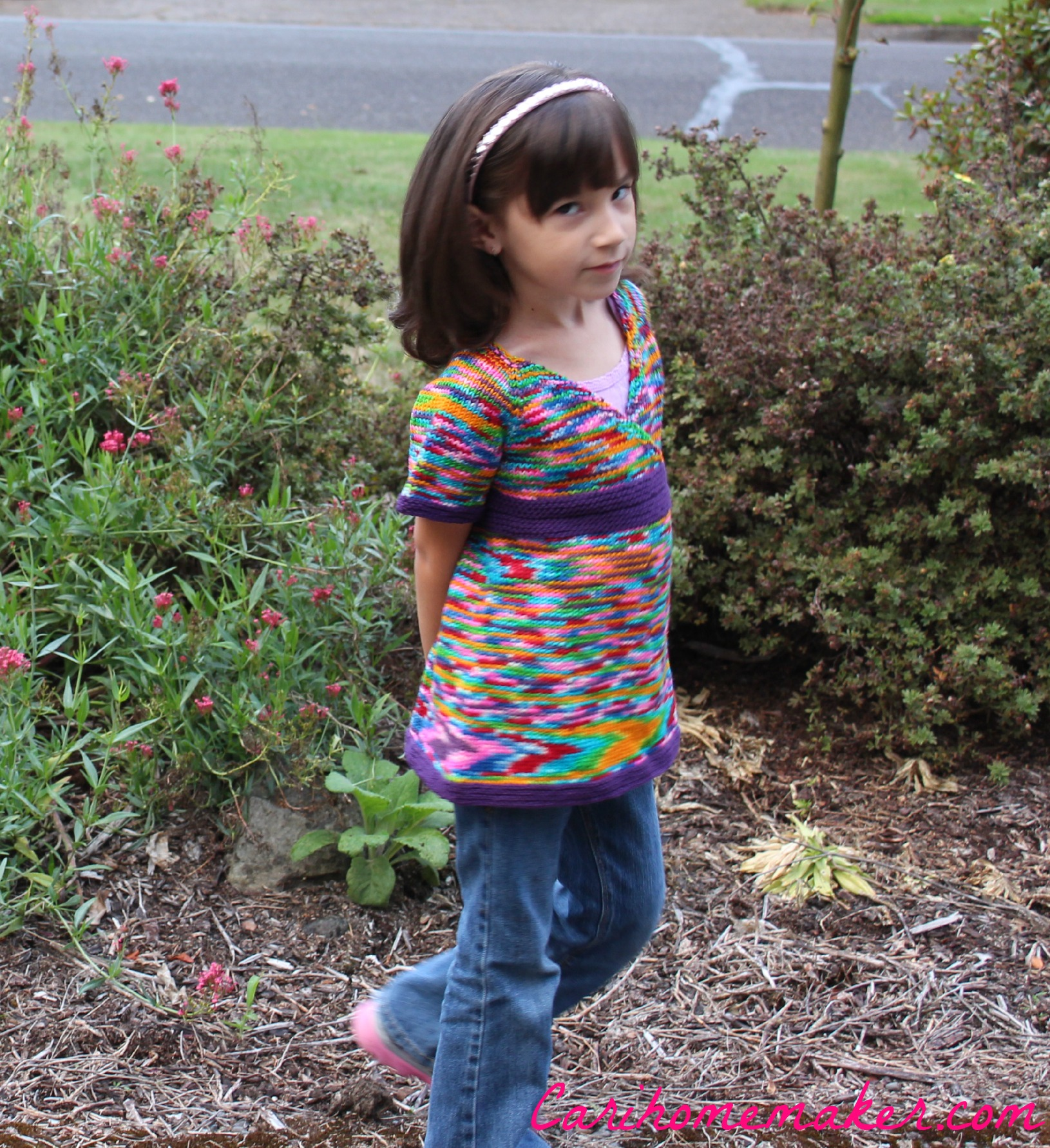 Rainbow Sweater Side