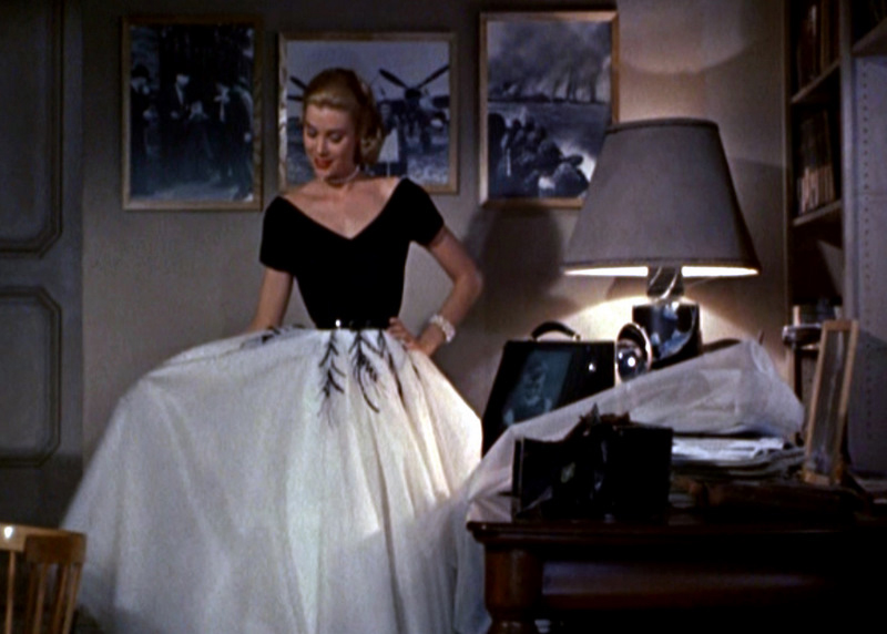 Grace Kelly in a scene from Rear Window.