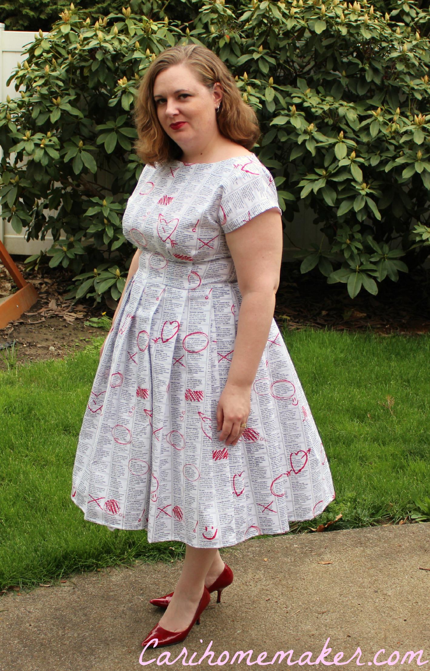 Newsprint Dress 3
