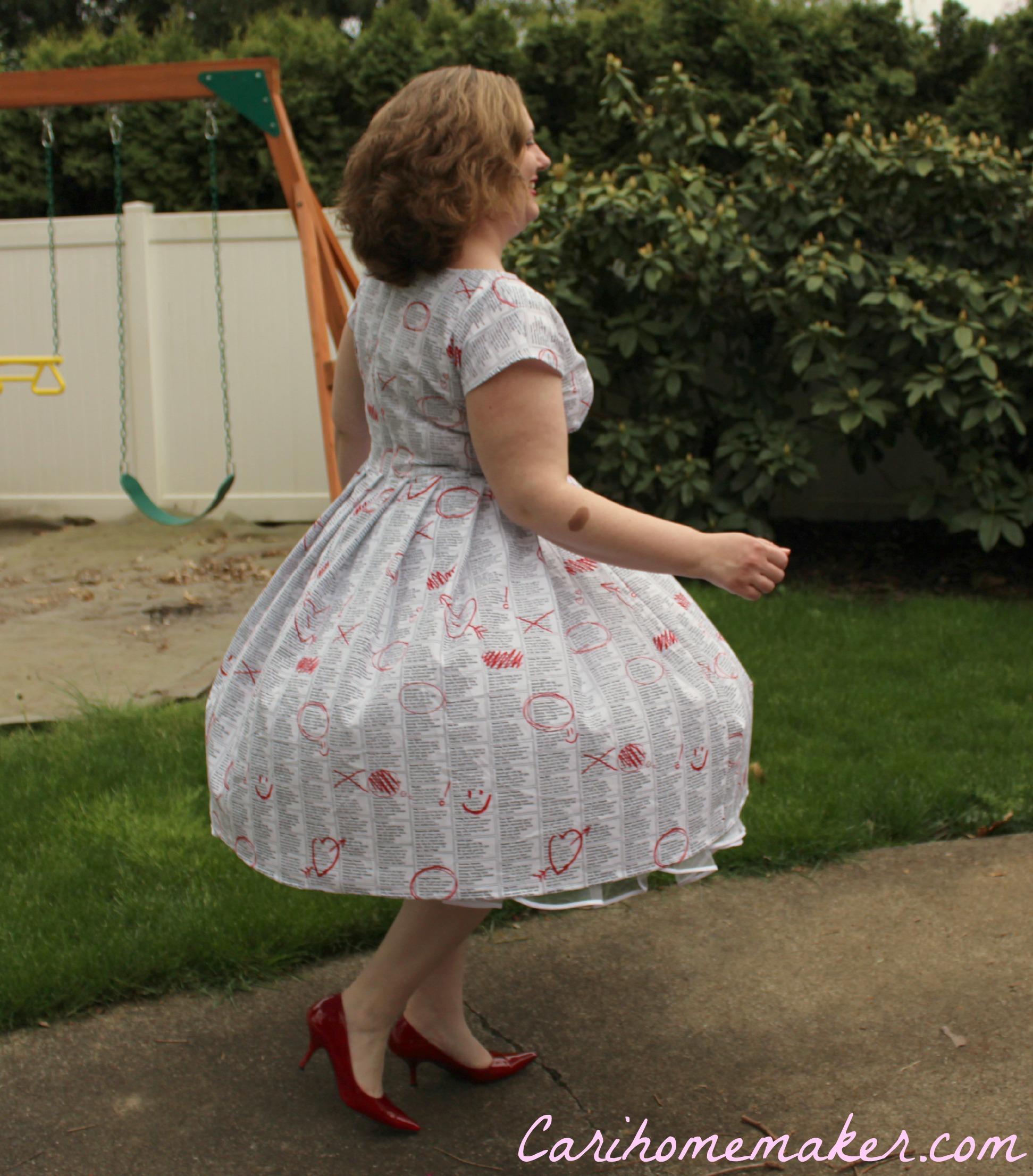 Newsprint Dress 5