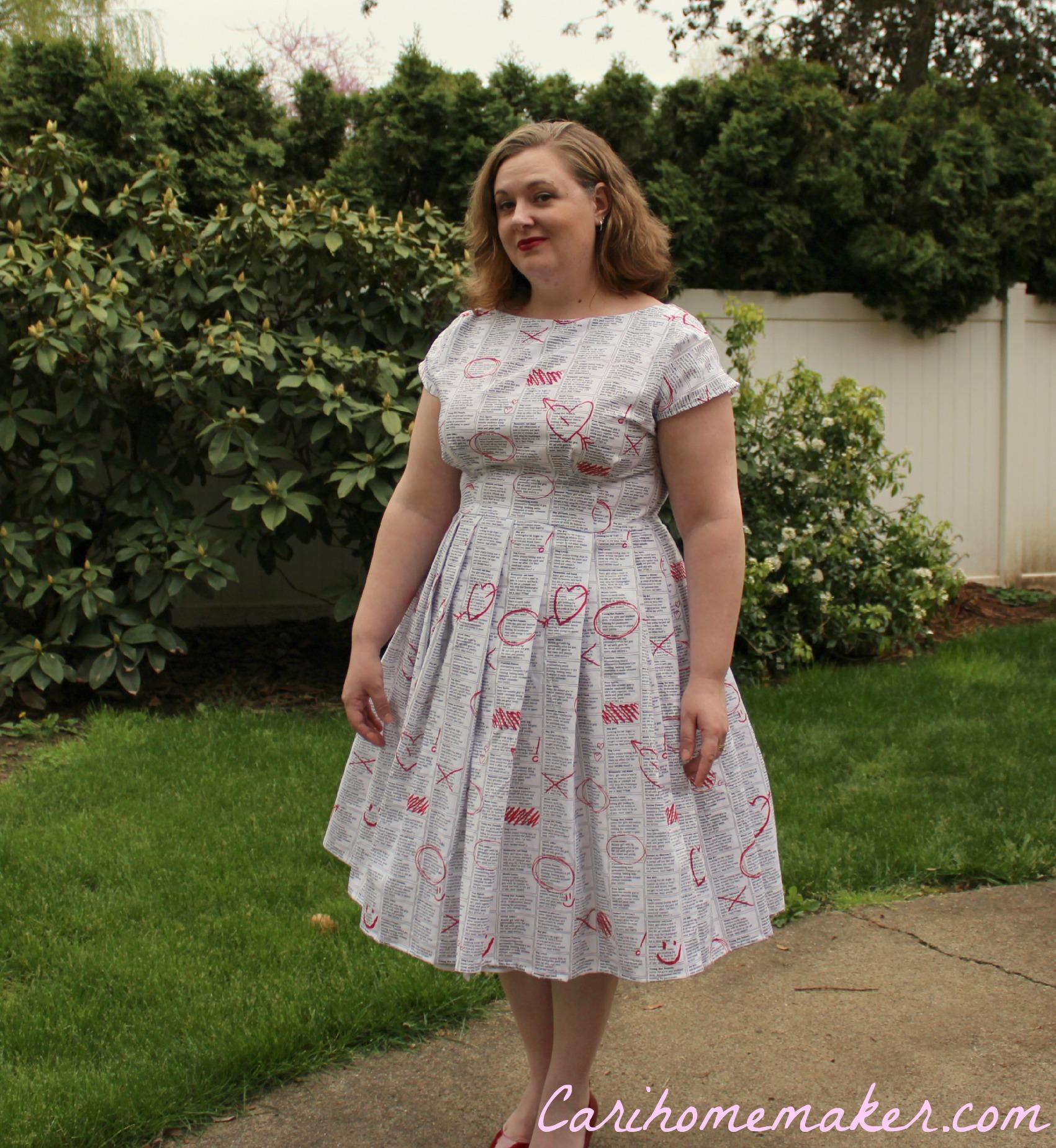 Newsprint Dress 7